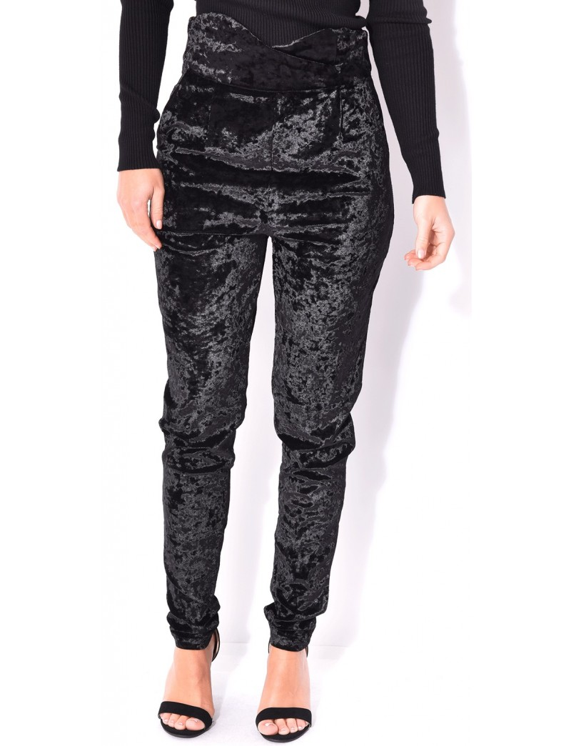 pantalon taille haute crois en velours jeans industry. Black Bedroom Furniture Sets. Home Design Ideas