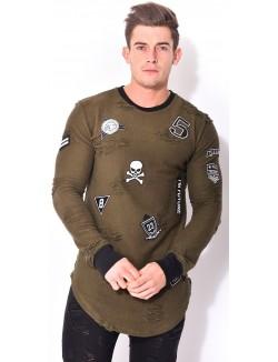 T-shirt John H oversize à patchs