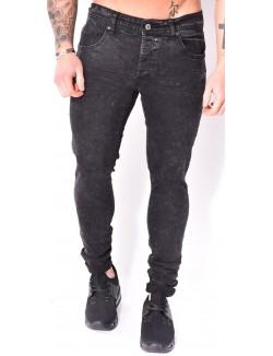 Jeans Project X skinny noir délavé