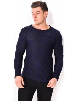 T-shirt homme destroy zippé