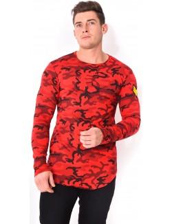 T-shirt oversize camo