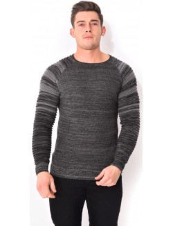 Pull homme chiné