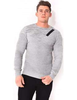 Pull homme à zip