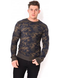 Pull homme camo