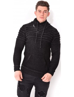 Pull homme chiné col châle