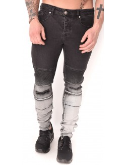 Jeans Sixth June motard tie and dye