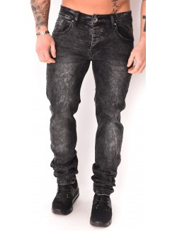 Jeans homme noir délavé