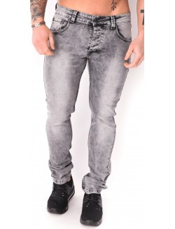 Jeans slim gris délavé