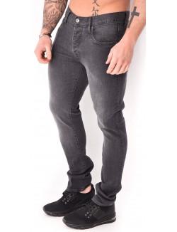 Jeans slim Crossby gris délavé