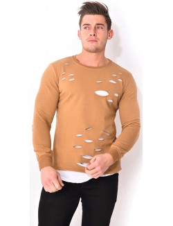 T-shirt homme oversize destroy