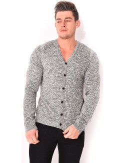 Cardigan homme chiné