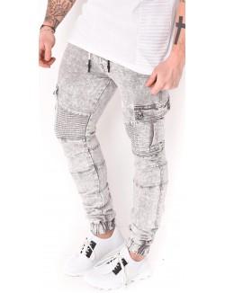 Pantalon cargo Gov Denim délavé