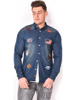 Chemise homme patchs