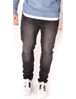 Jeans homme noir déchiré