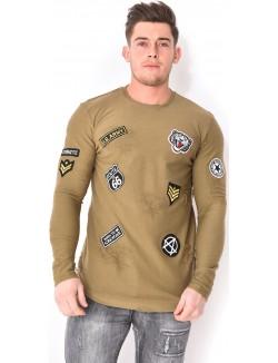 T-shirt oversize à patchs