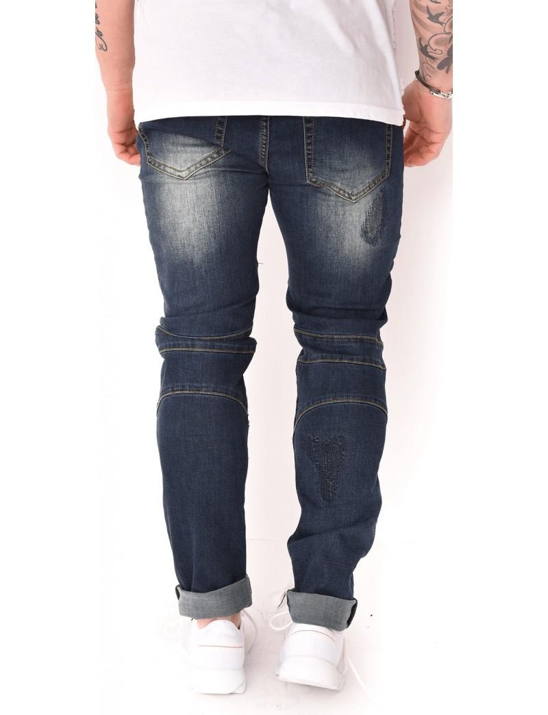 jeans homme john h motard jeans industry. Black Bedroom Furniture Sets. Home Design Ideas