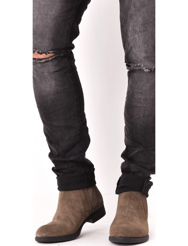chelsea boots en daim lastique jeans industry. Black Bedroom Furniture Sets. Home Design Ideas