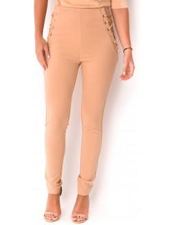 Pantalon tailleur lacé
