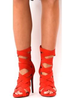 Sandales à brides élastiques