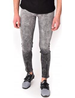 Jeans homme délavé zippé