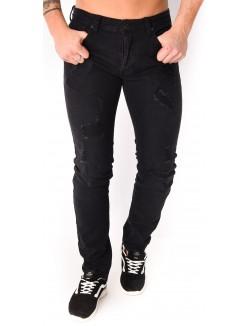 Jeans homme noir destroy