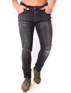 Jeans homme anthracite déchiré