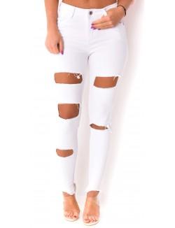 Jeans blanc destroy