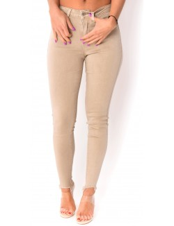 Jeans soft taille haute