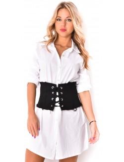 Ceinture corset avec laçage