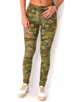 Jeans push-up camo
