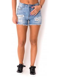 Short en jeans déchiré