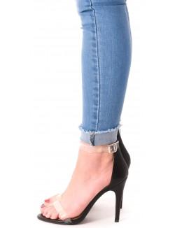 Sandales minimalistes à brides transparentes
