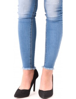 Escarpins pointus en jeans