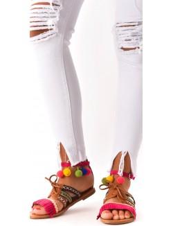 Sandales à franges et pampilles