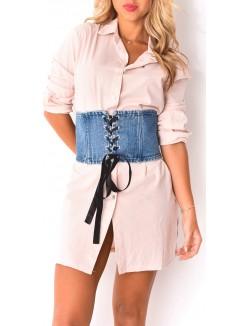 Ceinture corset en jeans