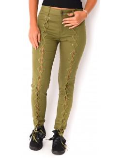 Jeans skinny avec laçage