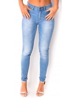 Jeans à pics aux chevilles
