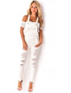Salopette en jeans destroy