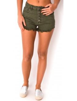Short en jeans taille haute