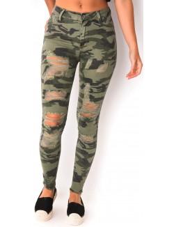 Jeans camouflage destroy