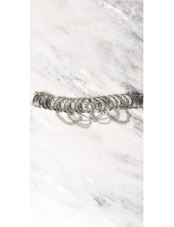 Collier ras de cou métal à chaines