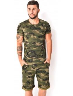 Ensemble short et t-shirt camouflage