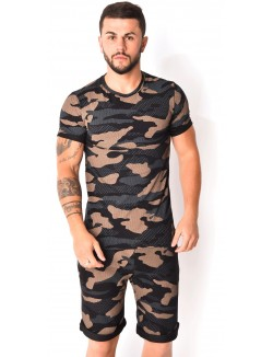 Ensemble short et t-shirt camouflage