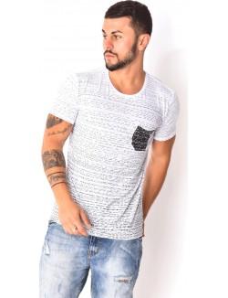 T-shirt à traits