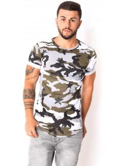 T-shirt camouflage avec étoiles