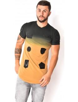 T-shirt à patchs