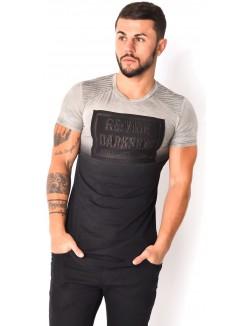 T-shirt imprimé relief