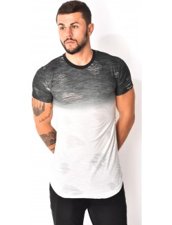 T-shirt dégradé destroy