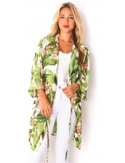 Kimono fluide à motifs