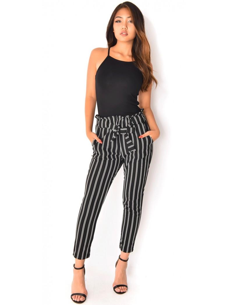pantalon fluide rayures jeans industry